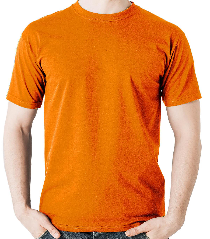 Camiseta básica laranja - 100% algodão penteado 30.1