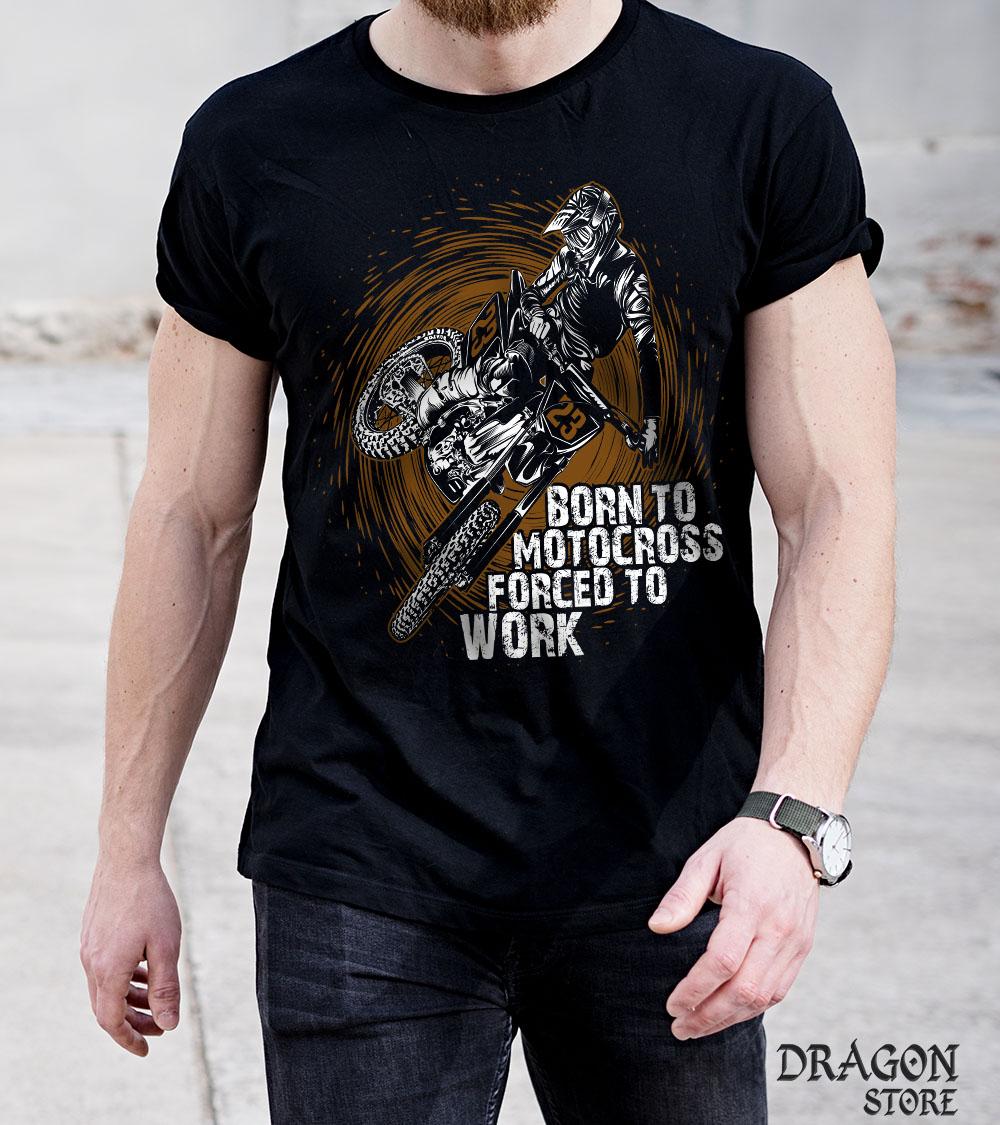 Camiseta Born to motocross Motociclista Trial Moto cross  - Dragon Store
