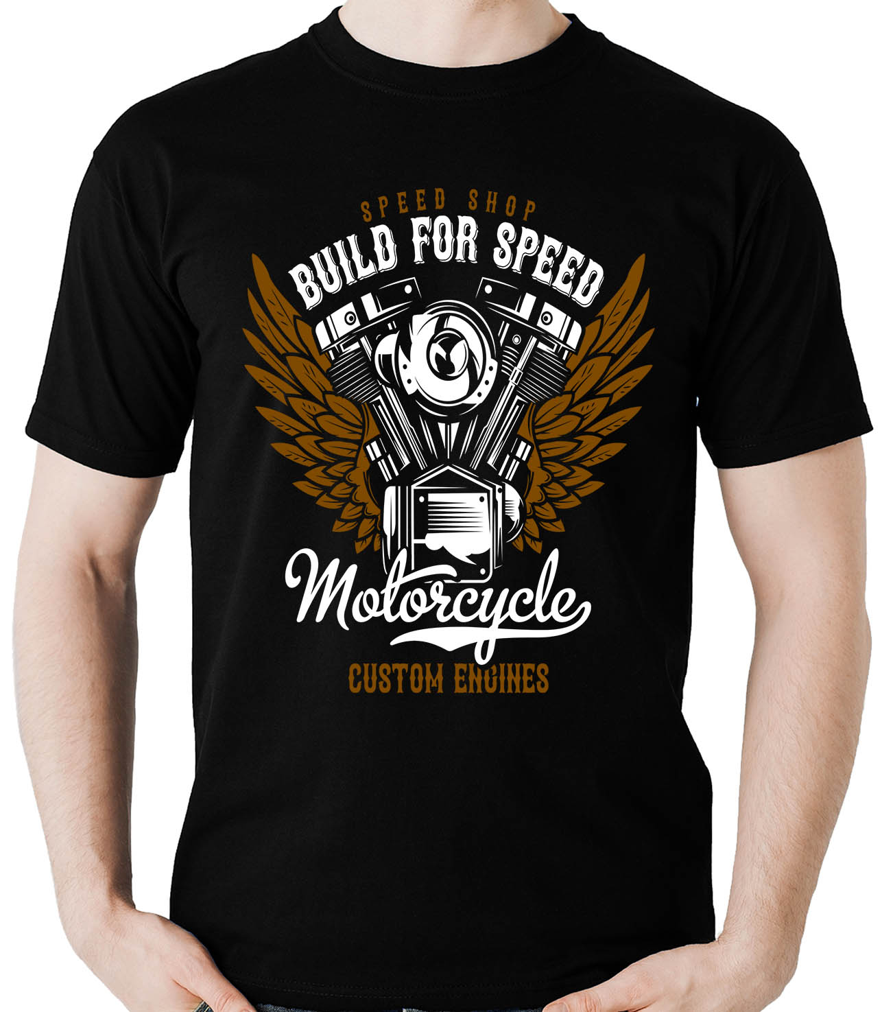 Camiseta Built for Speed Motor - Motociclista Moto  - Dragon Store