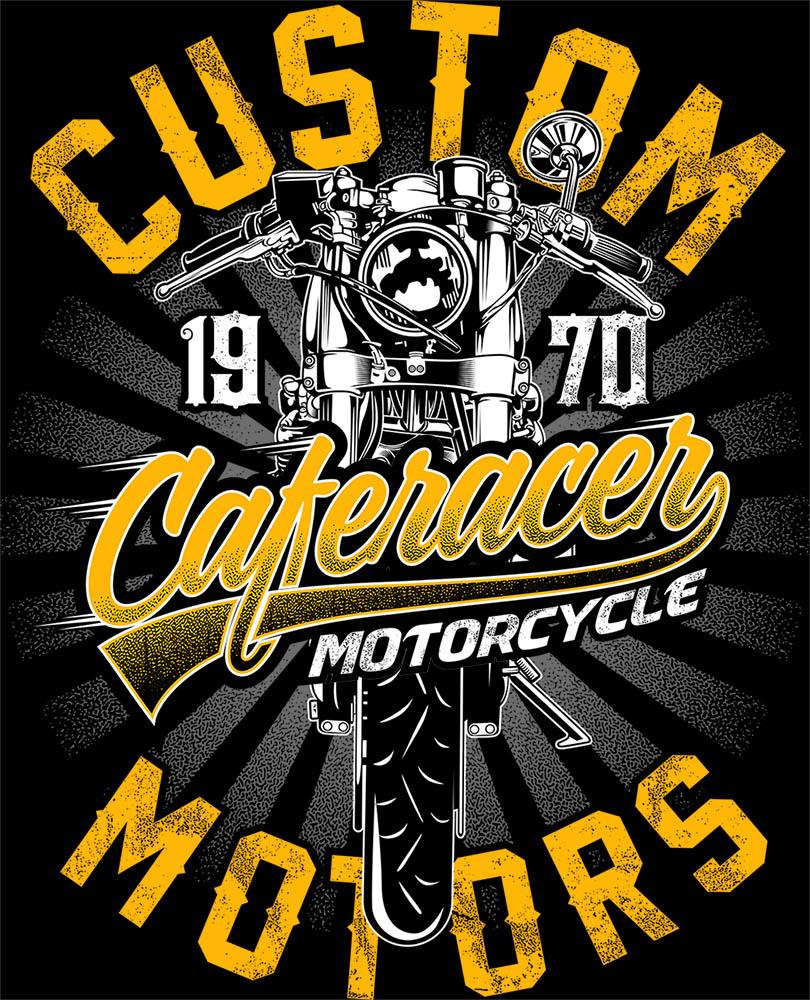 Camiseta Caferacer custom - Motociclista Moto motoqueiro  - Dragon Store