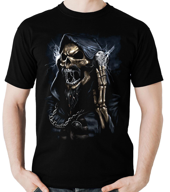 Camiseta Caveira Fone Metaleira Rock Skull  - Dragon Store