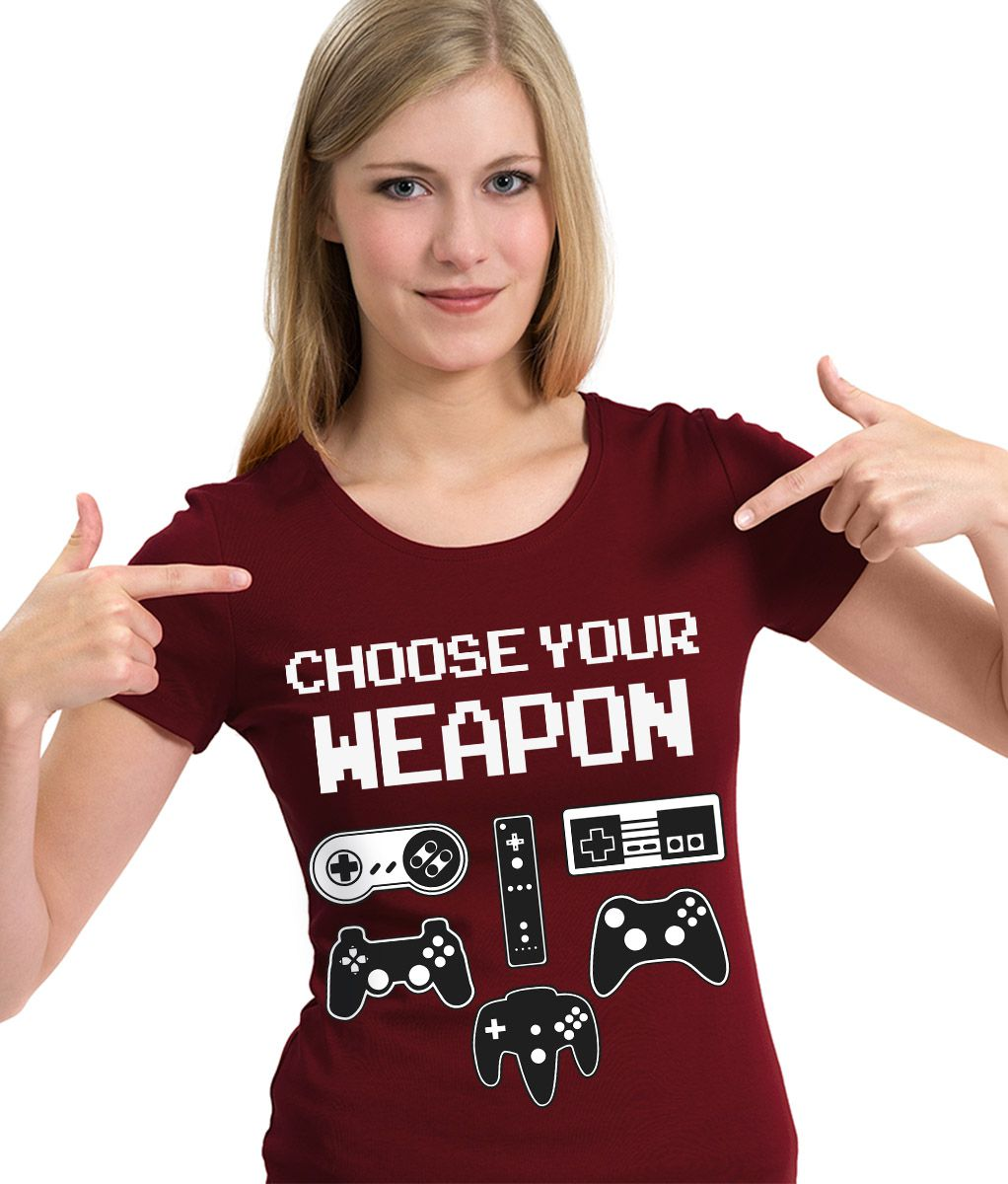 Camiseta Choose Your Weapon Controle Gamer Game Camisa Blusa  - Dragon Store