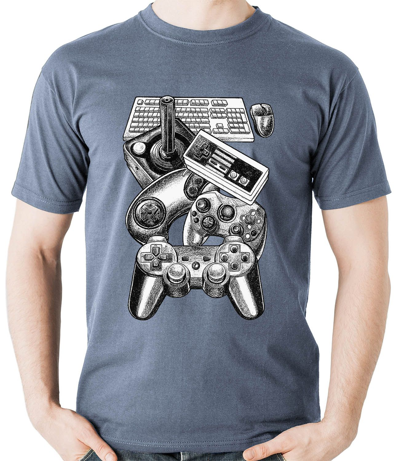Camiseta Controles Video Game Gamer controle Camisa Blusa