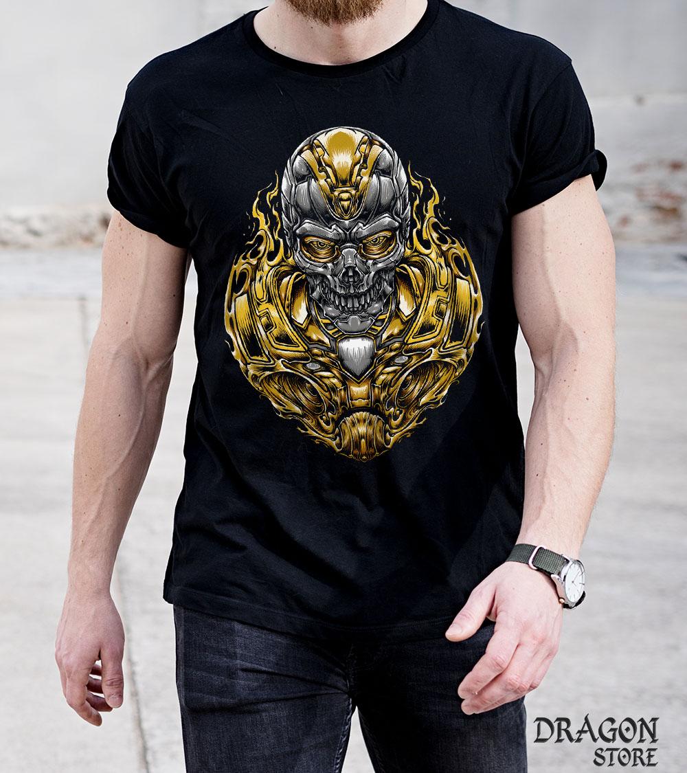 Camiseta Cyber Knight Caveira  - Dragon Store