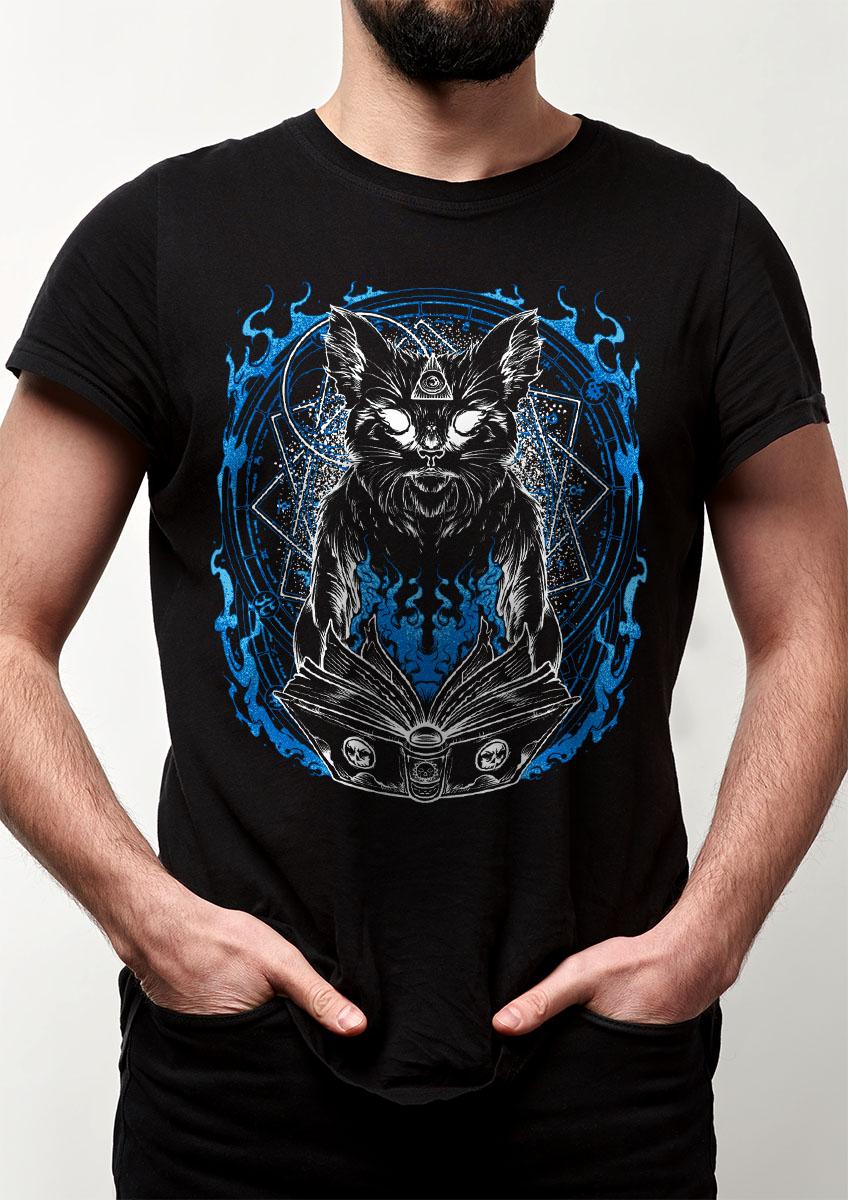 Camiseta Gato mago Bruxo feiticeiro