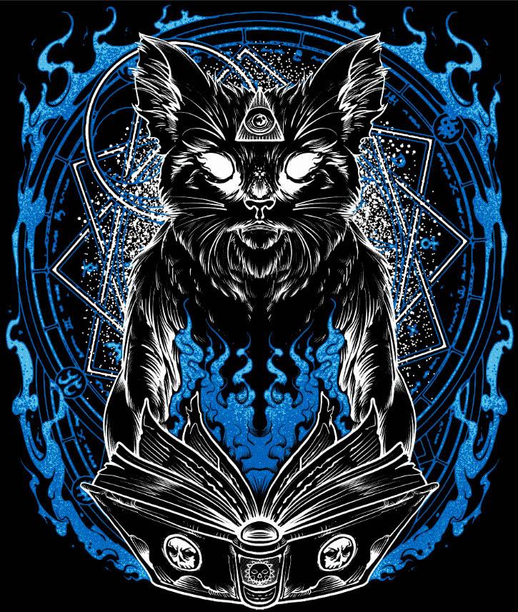 Camiseta Gato mago Bruxo feiticeiro  - Dragon Store