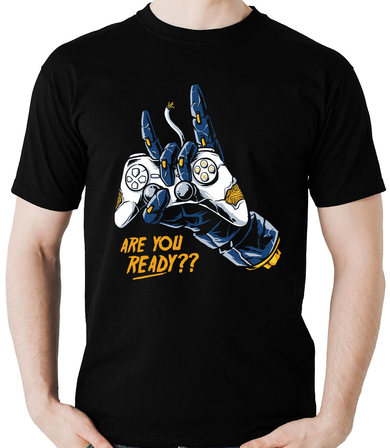 Camiseta Geek Are You Ready Gamer controle Video Game