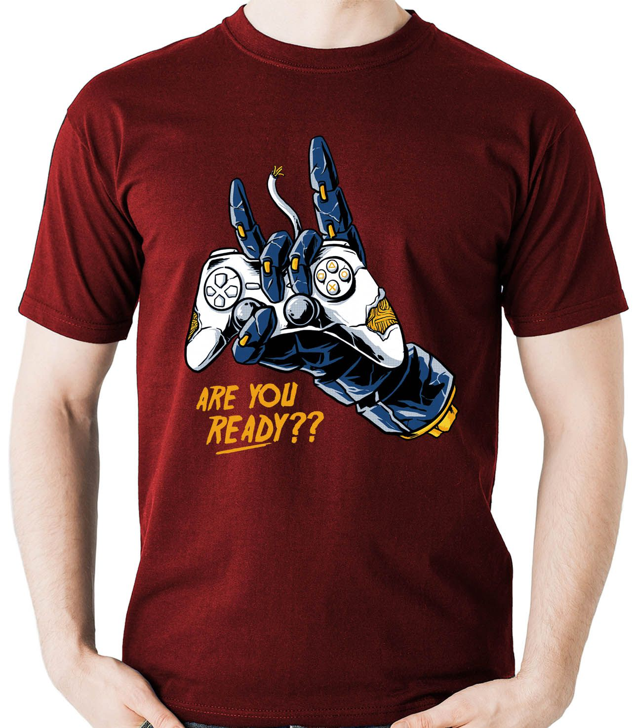 Camiseta Geek Are You Ready Gamer controle Video Game  - Dragon Store
