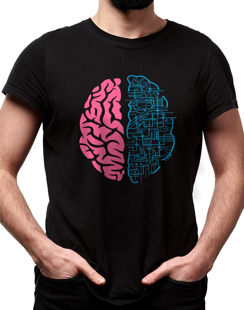 Camiseta Geek brain - cerebro nerd