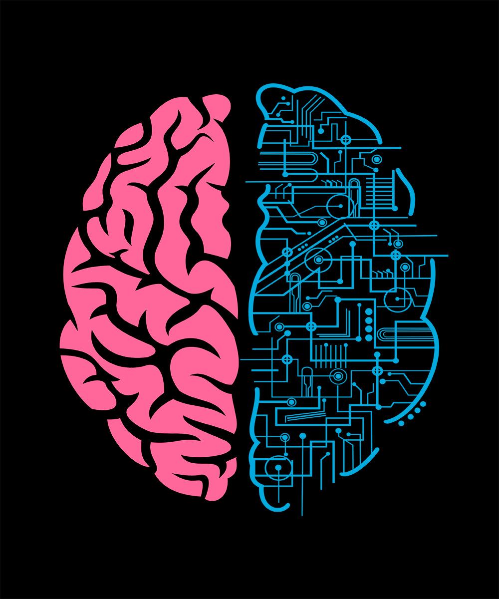 Camiseta Geek brain - cerebro nerd  - Dragon Store