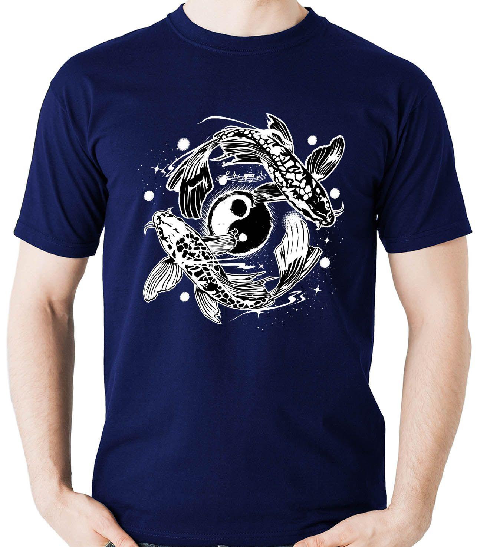 Camiseta Geek Carpa Yin Yang Mitologia Chines Japones Ying