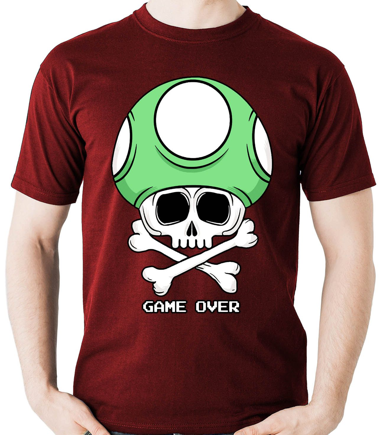 Camiseta Geek Game Over - Cogumelo  - Dragon Store