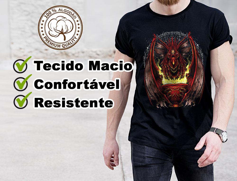 Camiseta Geek God Dragon Dragão RPG  - Dragon Store