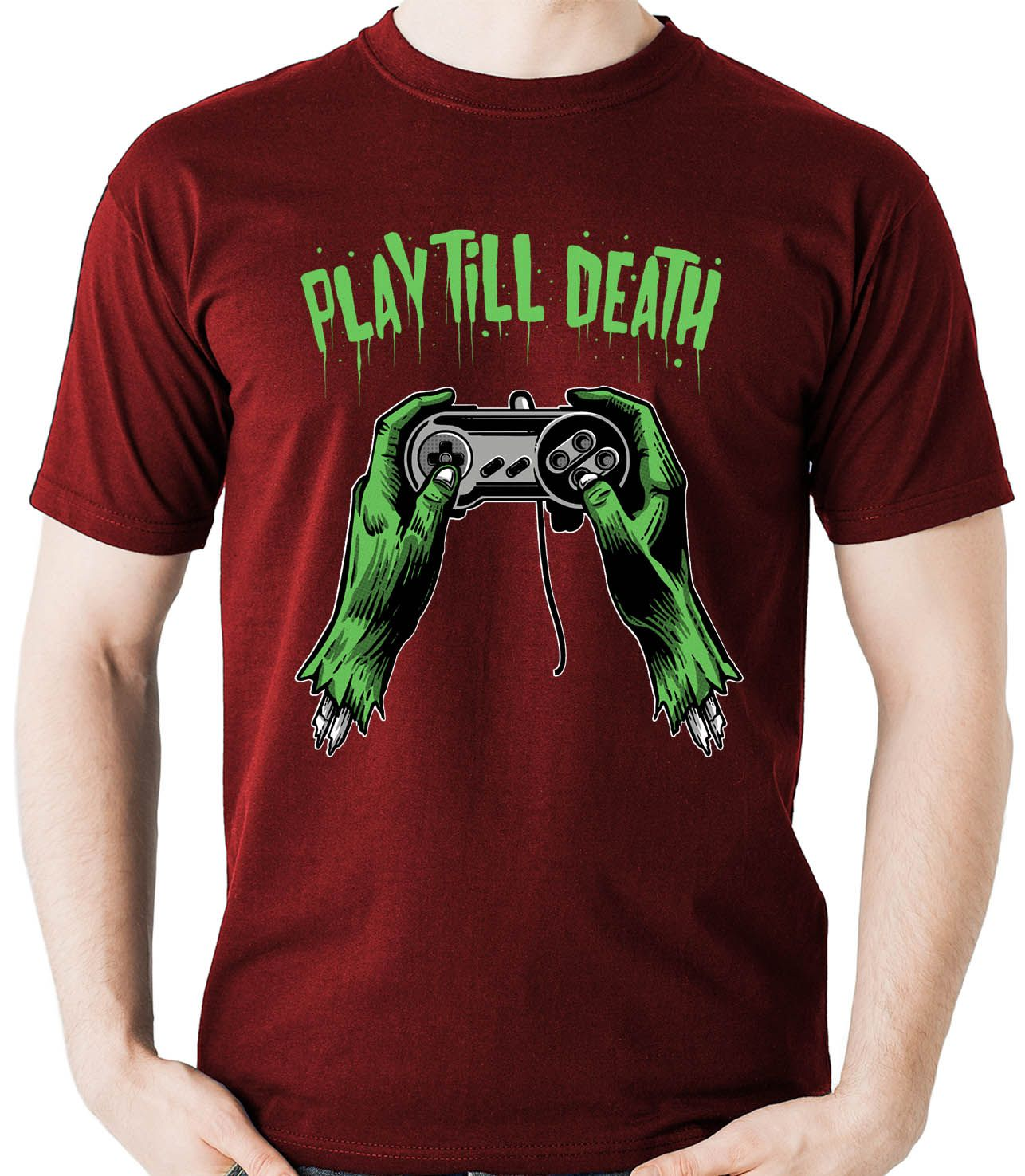 Camiseta Geek Play till Death - Gamer Video Game