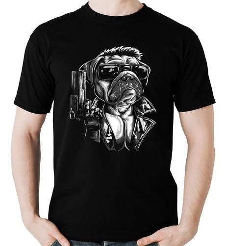 Camiseta Geek Pugnator Pug Exterminador Parodia Filme  - Dragon Store