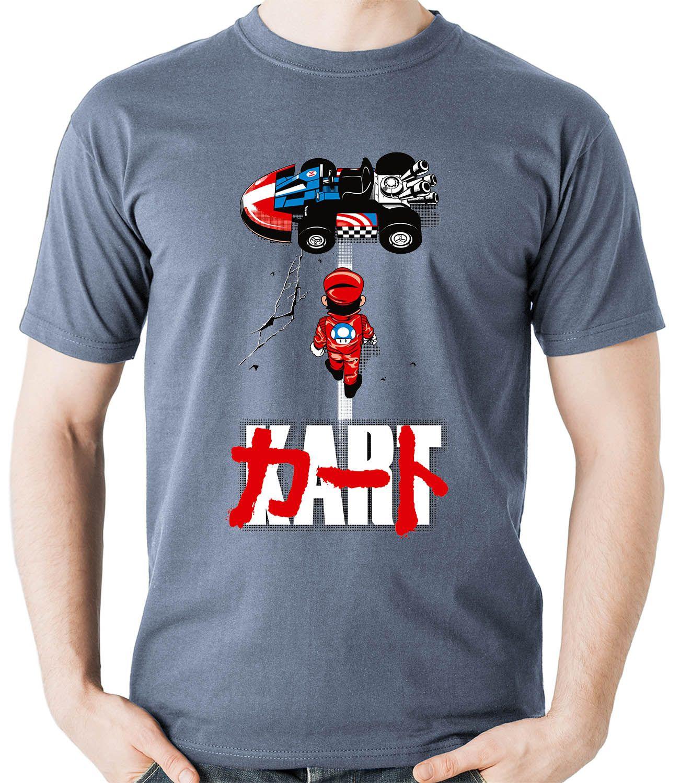 Camiseta KART Akira Mario Game Parodia  Camisa Blusa