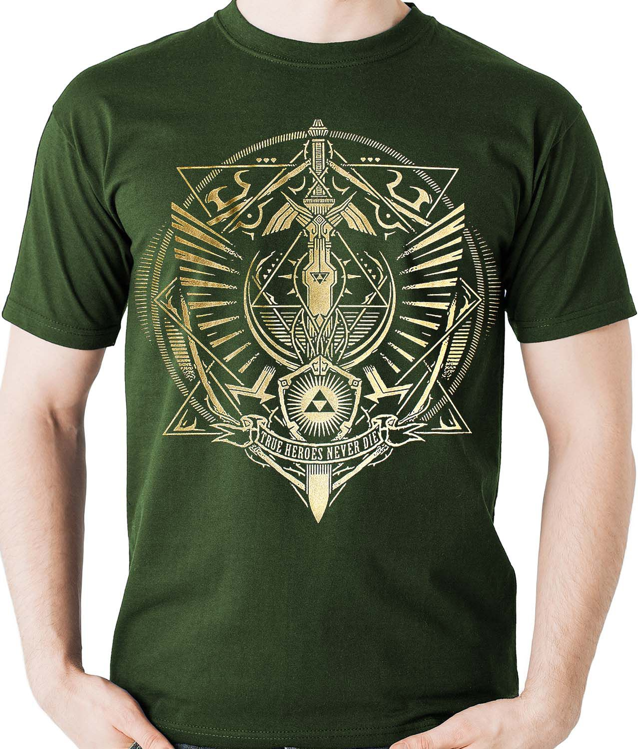 Camiseta Link Legends Of Zelda Triforce Game Camisa Blusa  - Dragon Store
