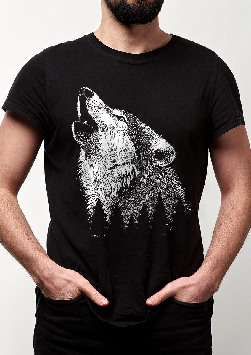 Camiseta Lobo Floresta