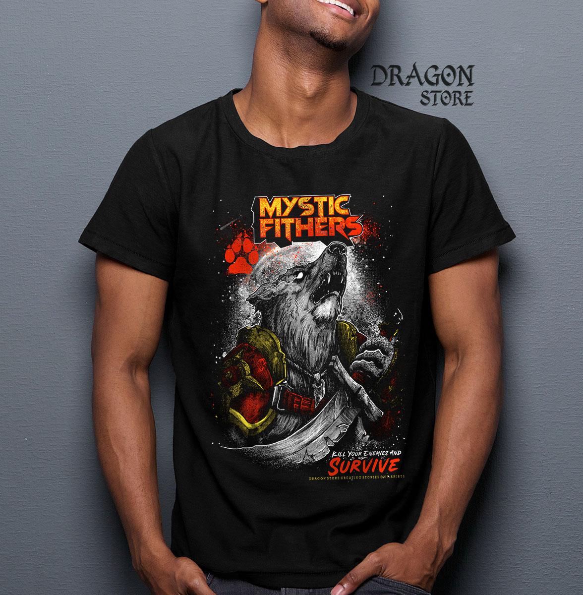 Camiseta Lobo Guerreiro Mystic Fighters Lobisomem