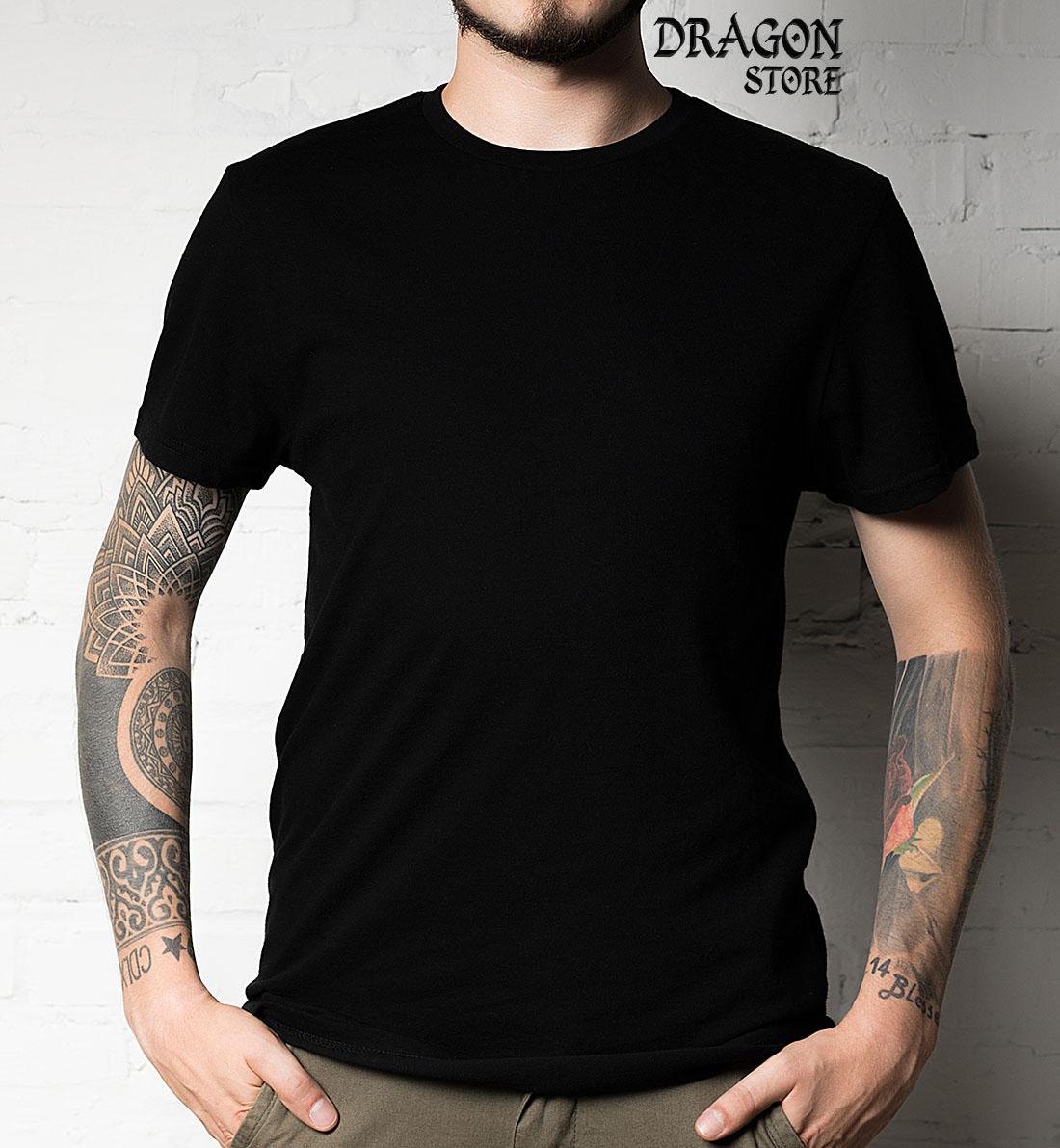 Camiseta Preta Básica Lisa - 100% Algodão Qualidade Premium