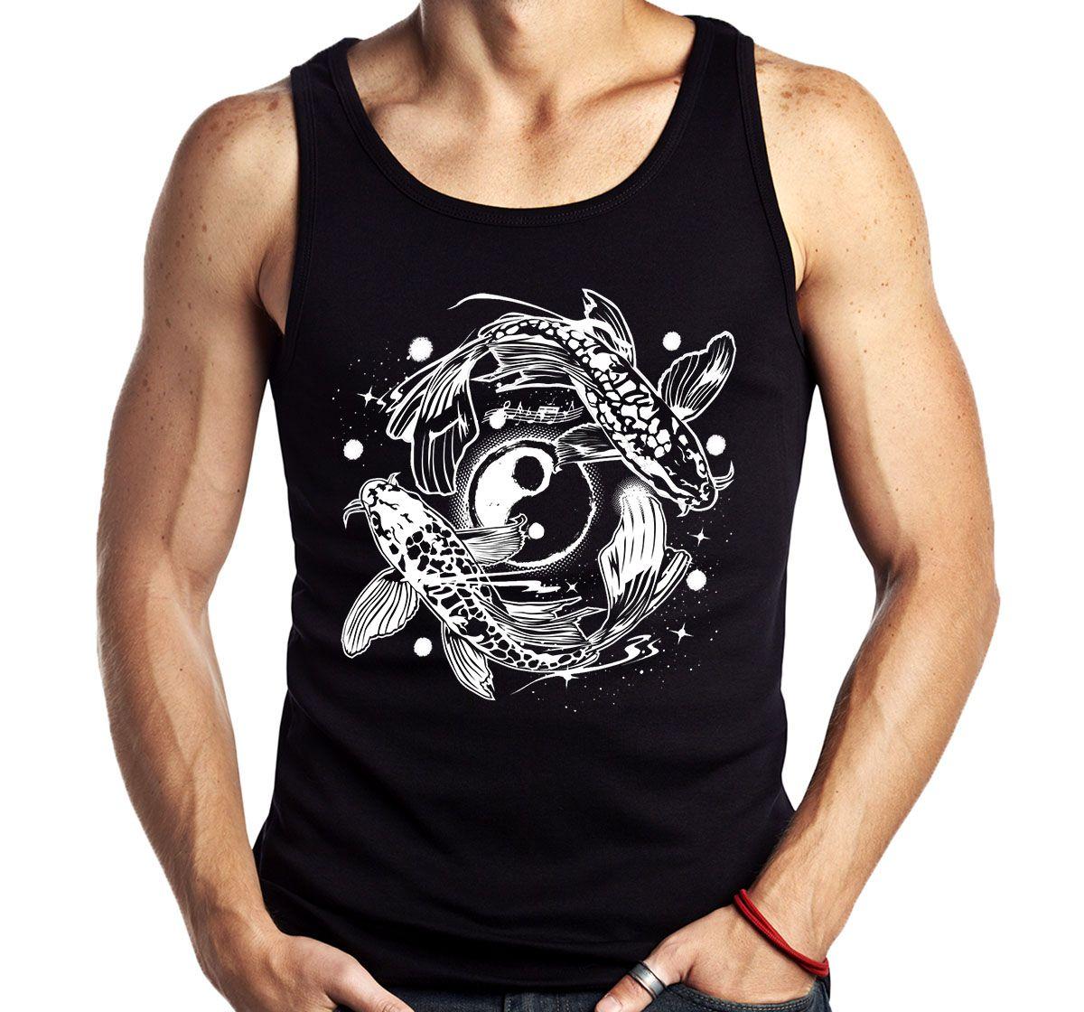 Camiseta Regata Carpa Yin Yang Mitologia Chines Japones Ying  - Dragon Store