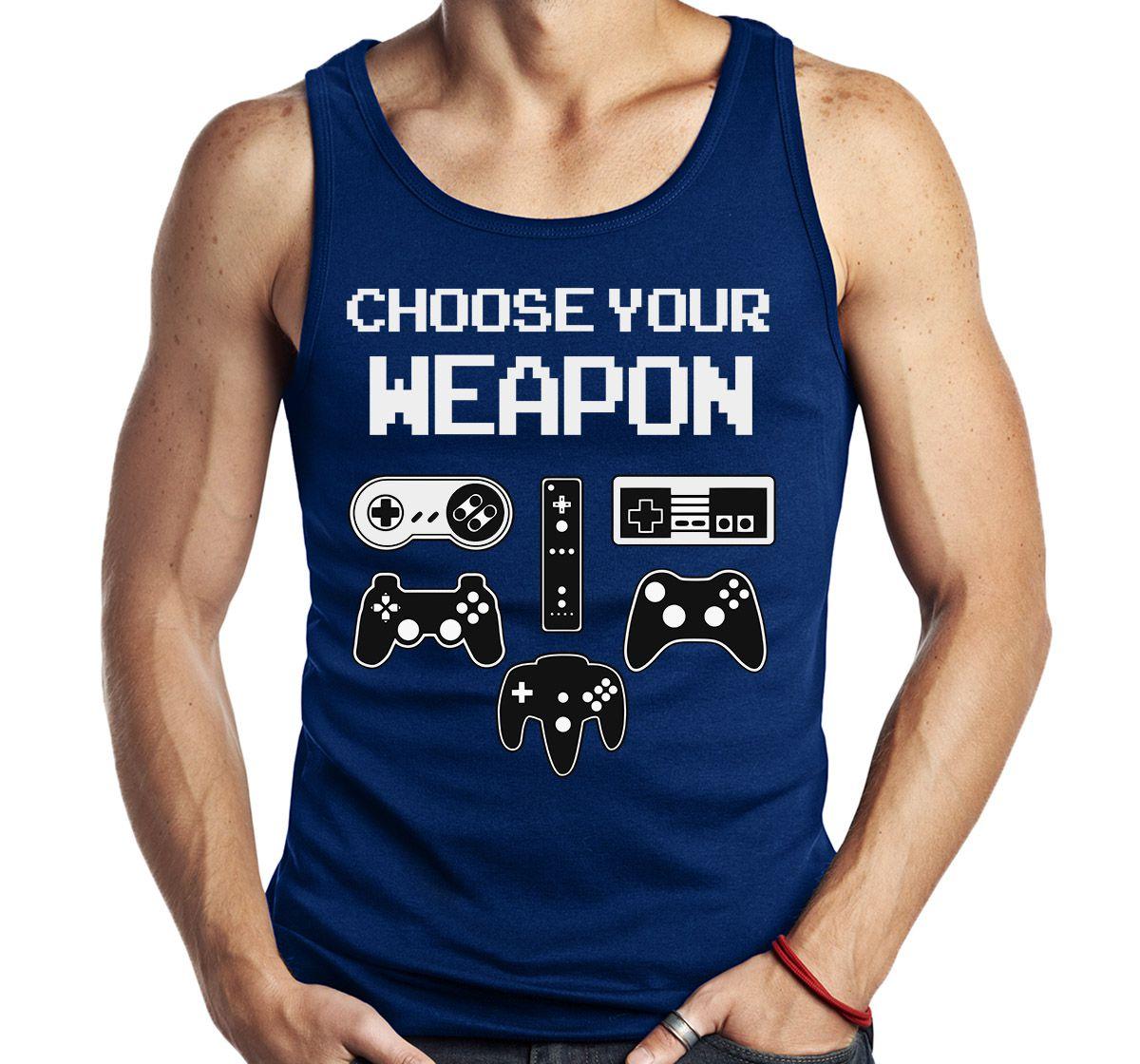 Camiseta Regata Choose Your Weapon Controle Gamer Game Sem Manga  - Dragon Store