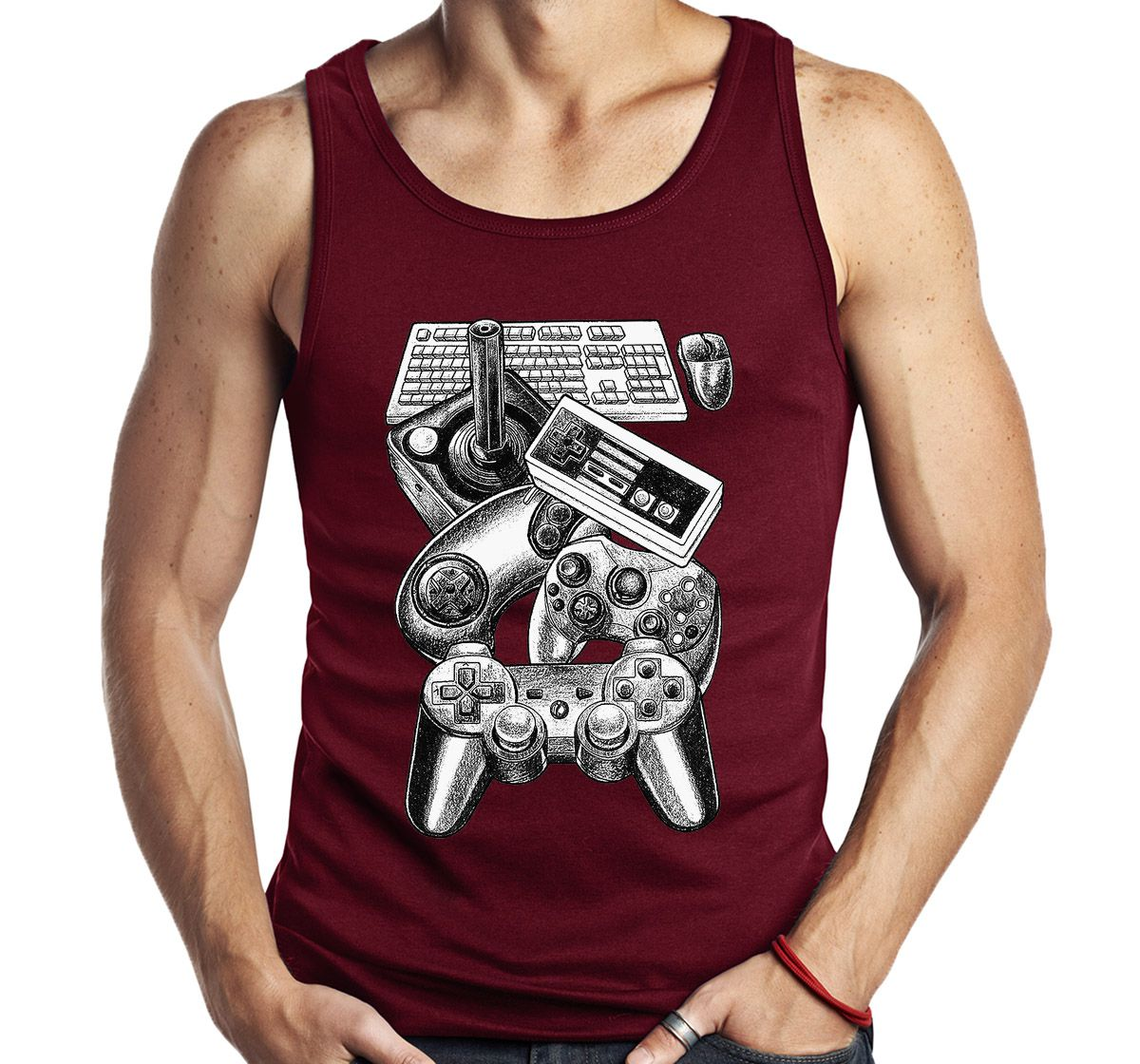 Camiseta Regata Controles Video Game Gamer Geek Sem Manga  - Dragon Store