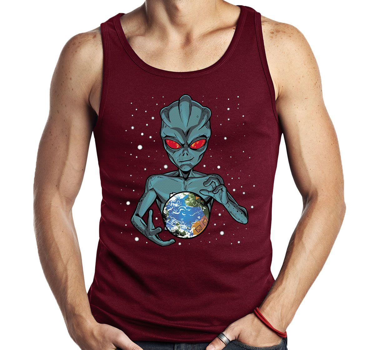 Camiseta Regata Dominação Alien Anunnaki - ET UFO OVNI  - Dragon Store