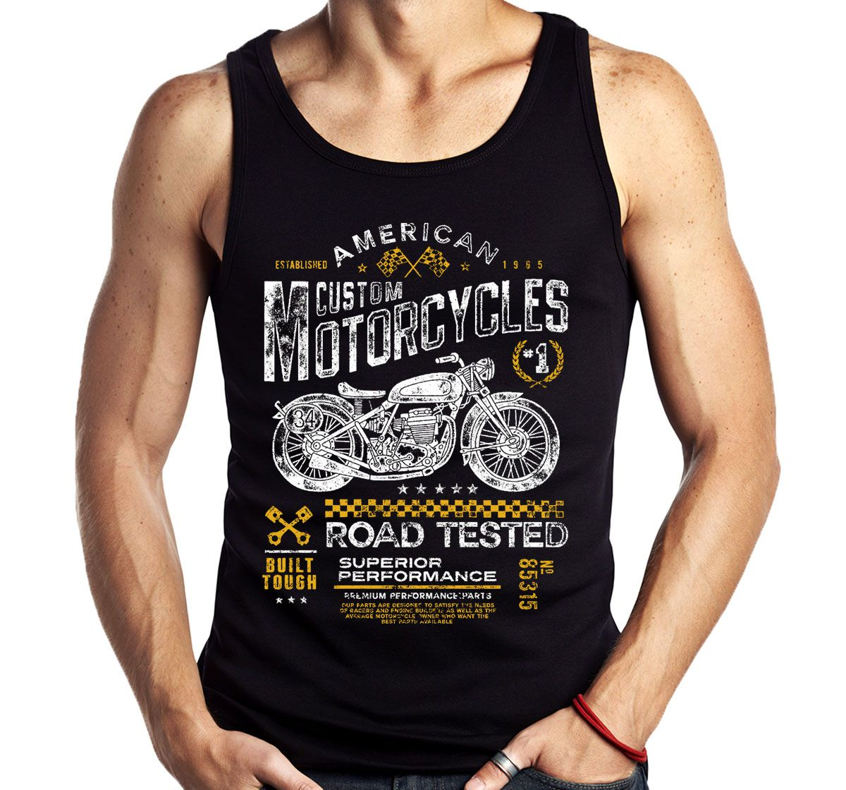 Camiseta Regata Road Tested Motociclista Moto Motoqueiro A  - Dragon Store