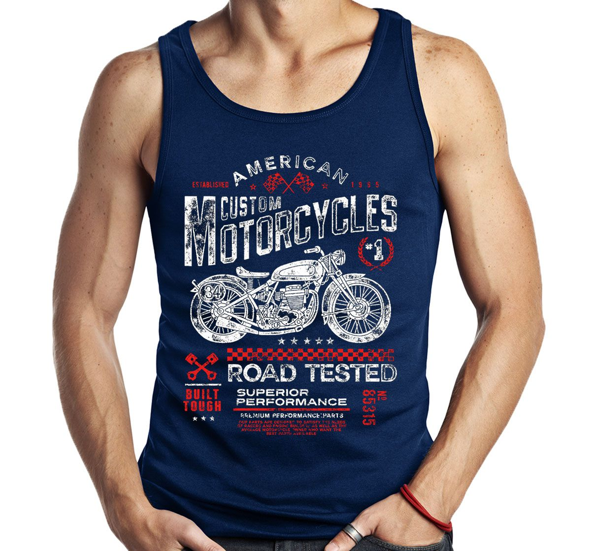 Camiseta Regata Road Tested Motociclista Moto Motoqueiro V  - Dragon Store