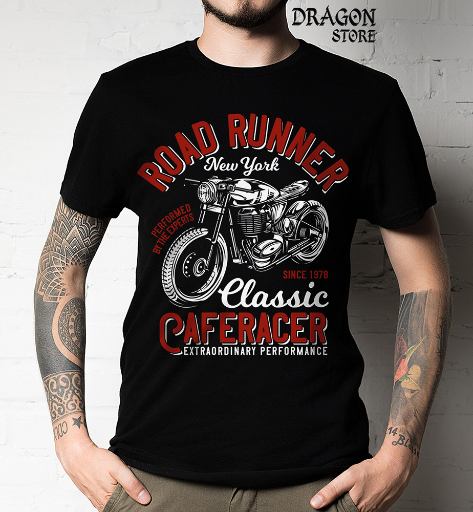 Camiseta Road Runner - Motociclista Moto  - Dragon Store
