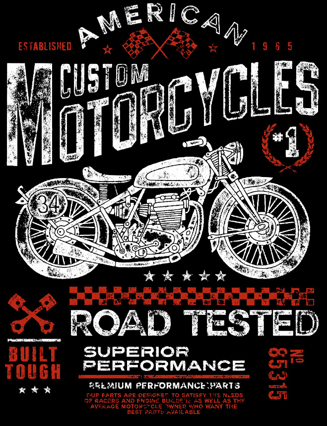 Camiseta Road Tested Motociclista Moto Motoqueiro V  - Dragon Store