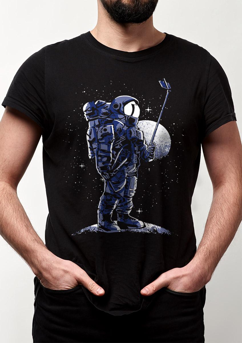 Camiseta Selfie No Espaço Astronauta