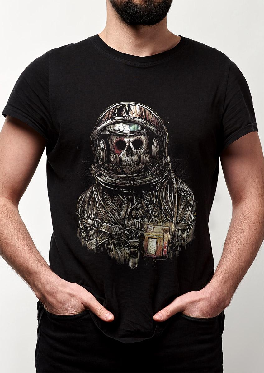 Camiseta Spaceman Astronauta Caveira Banda Rock Starman  - Dragon Store