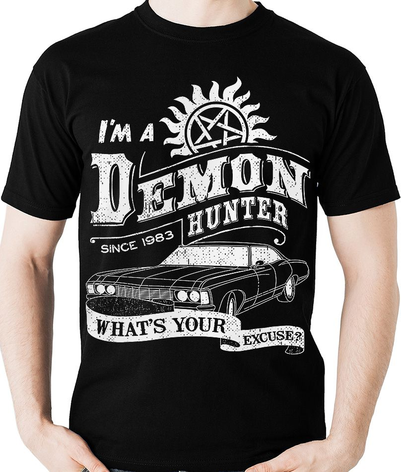 Camiseta Supernatural Demon Hunter Sobrenatural Camisa Blusa - Dragon Store