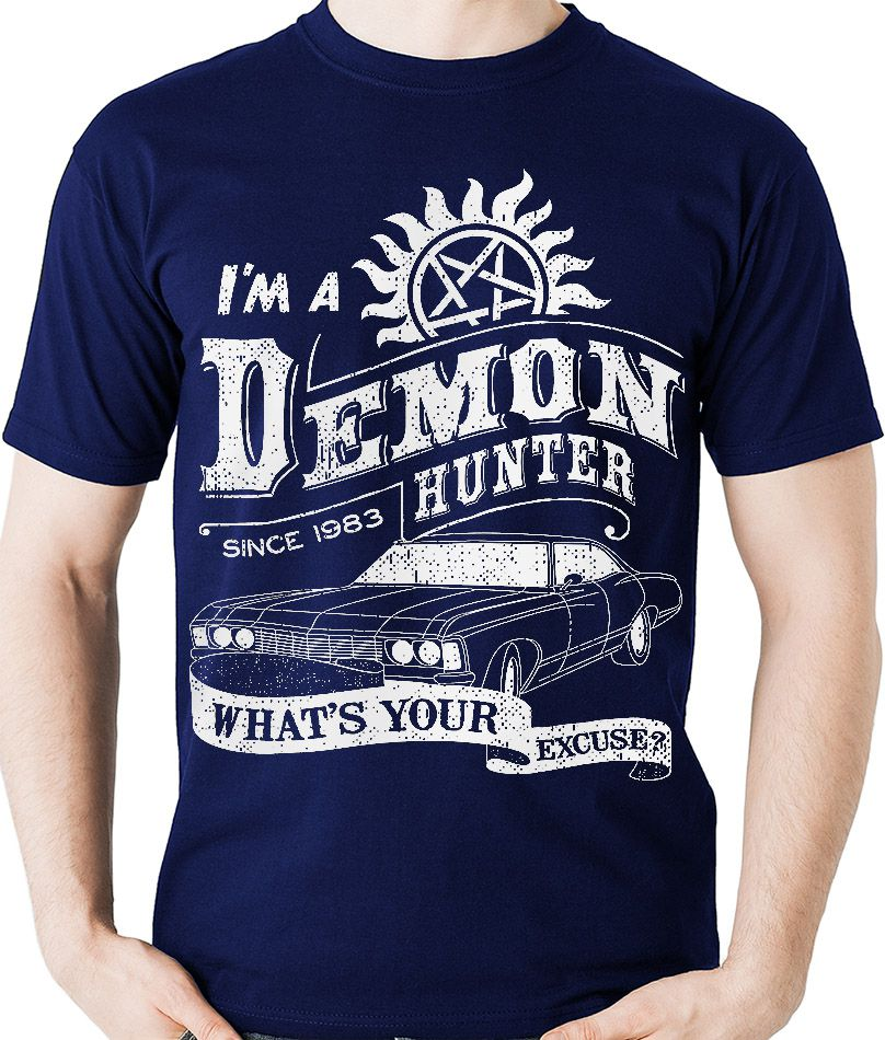 Camiseta Supernatural Hunter Sobrenatural Geek Camisa Blusa  - Dragon Store