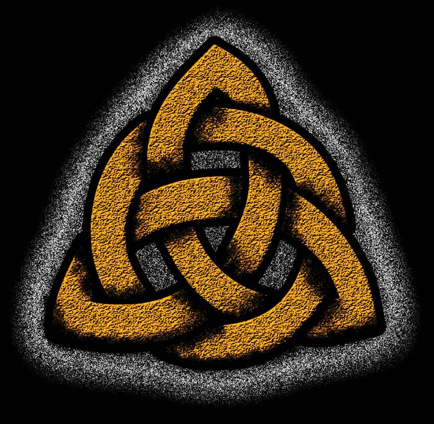 Camiseta Triquetra - Viking celta nordico Simbolo Dark  - Dragon Store