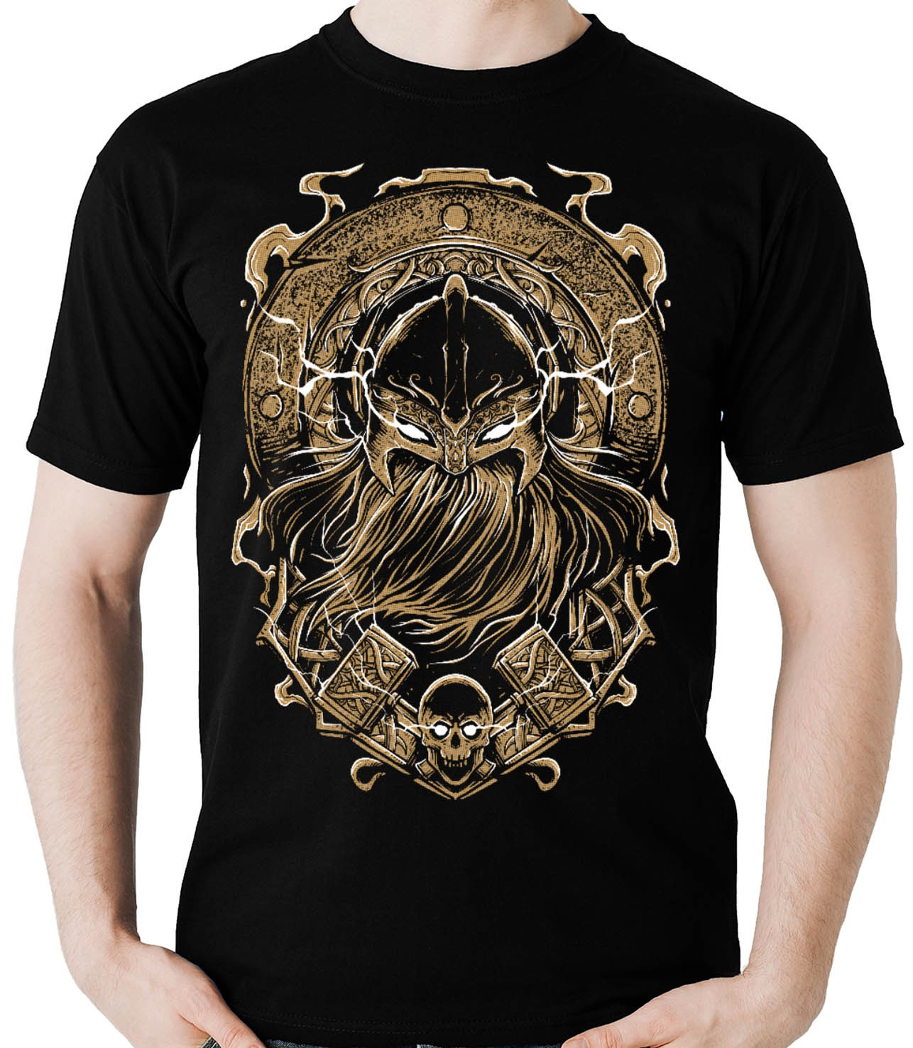 Camiseta Viking Barbaro celta Odin Thor Vikings Nordico M2  - Dragon Store