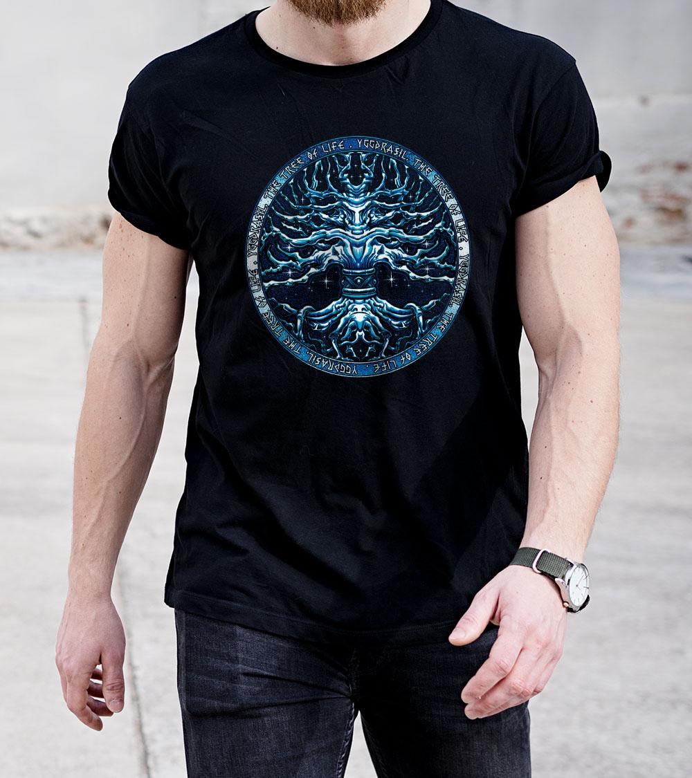 Camiseta Yggdrasil - Arvore da vida Viking celta nordico  - Dragon Store