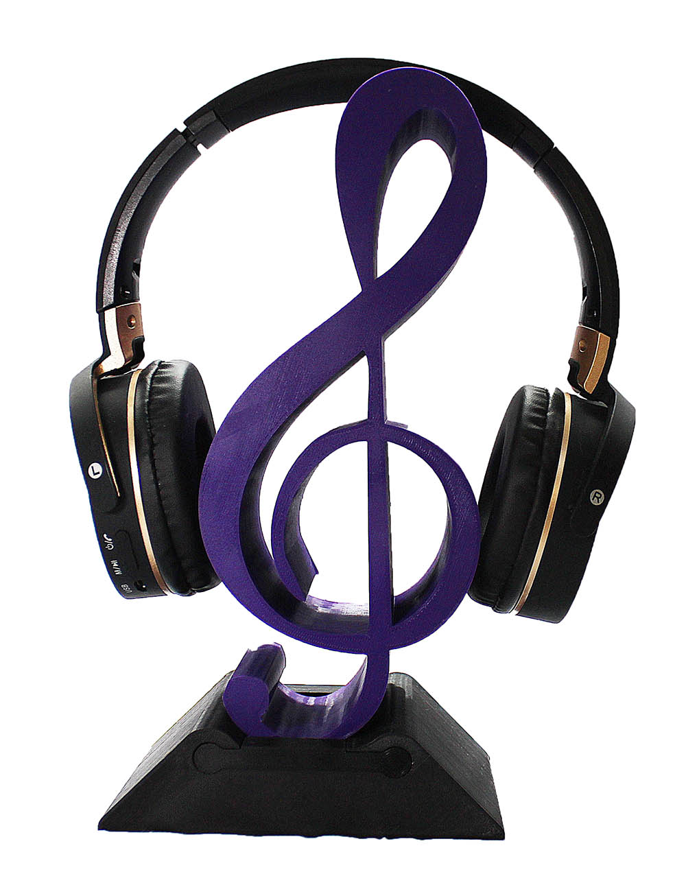 Clave sol Suporte para Headphone fone de ouvido Mesa musica  - Dragon Store