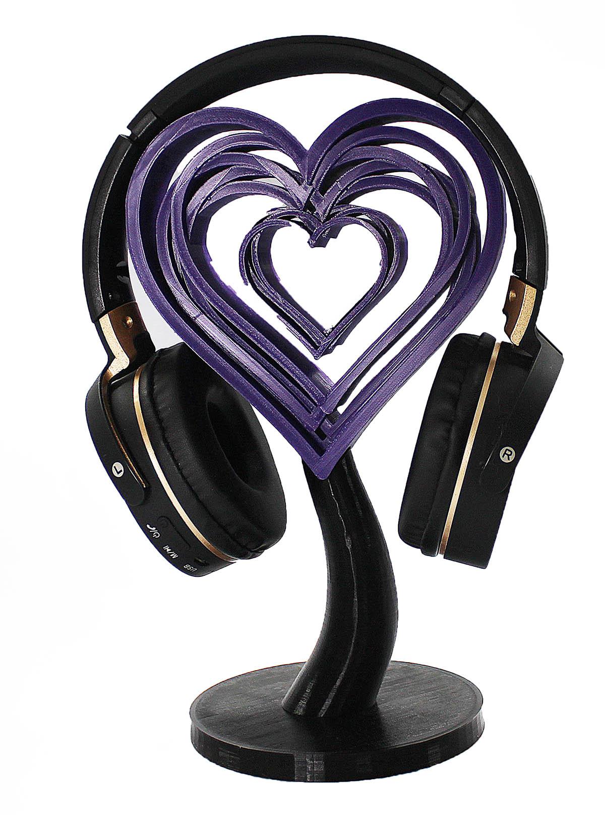 Coração Suporte para Headphone fone de ouvido Mesa   - Dragon Store