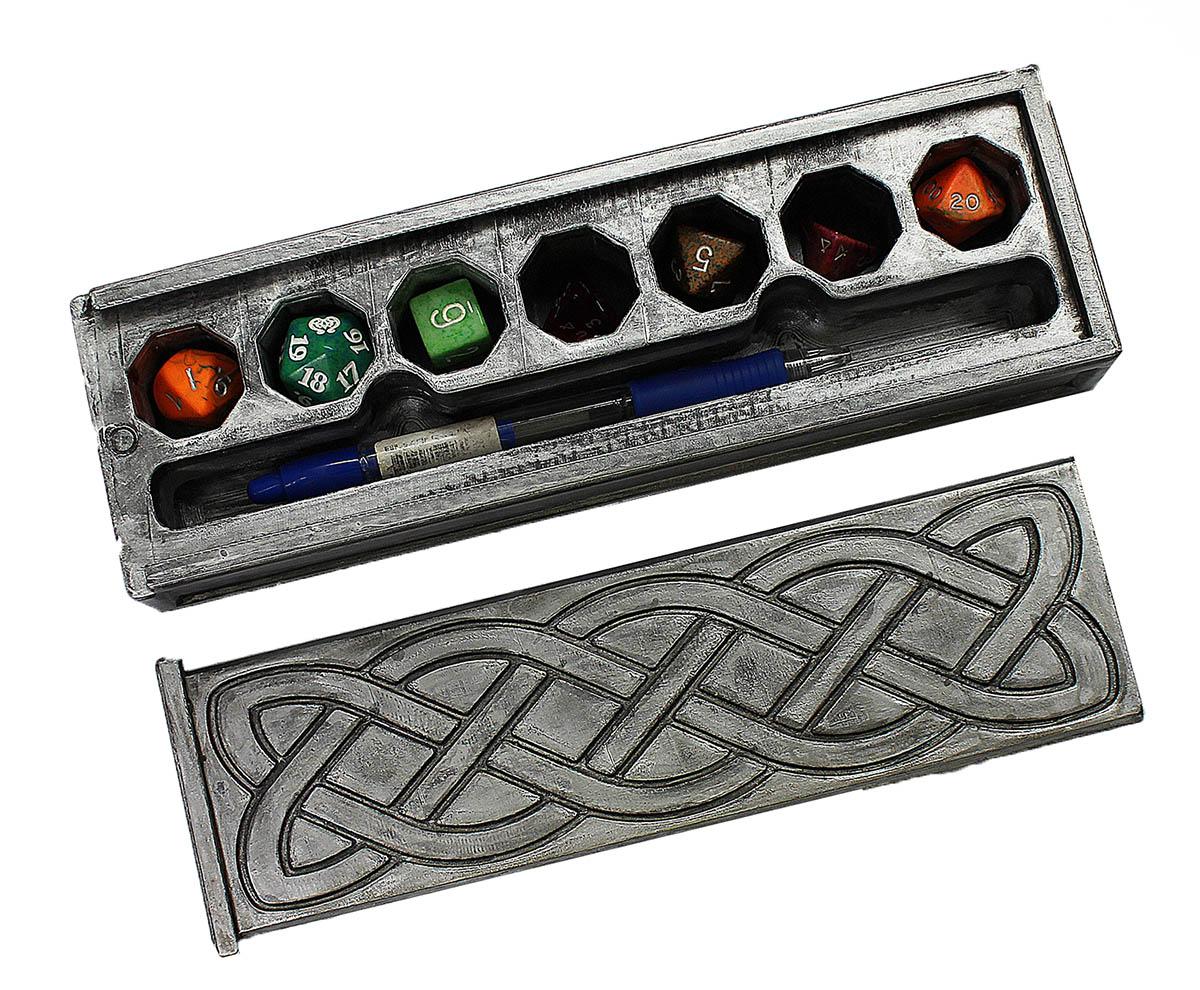 Dice box para RPG - Caixa para dados tema celta  - Dragon Store