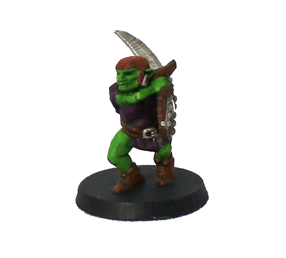 Goblin guerreiro miniatura RPG Boargame Hobby Pintado