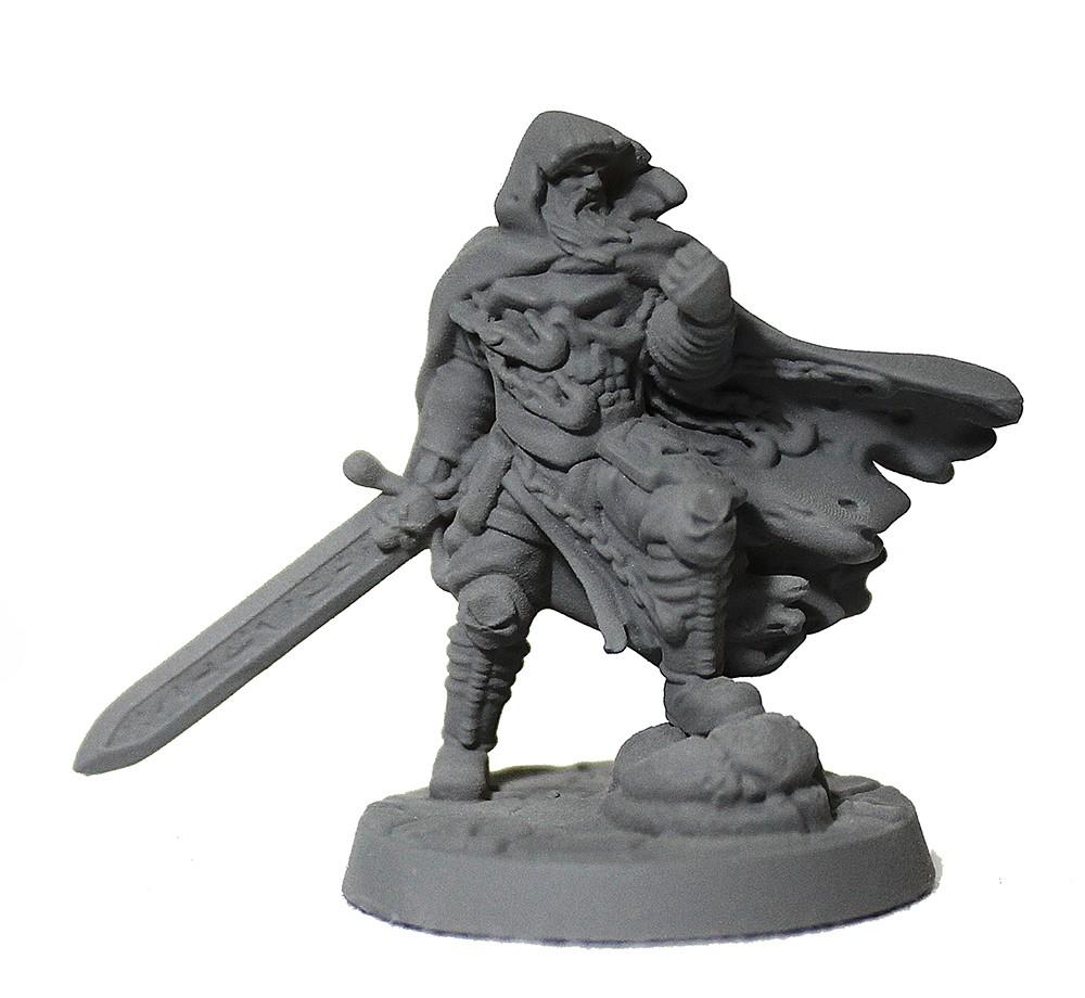 Guerreiro solitario miniatura RPG Boargame Hobby pintura - knight