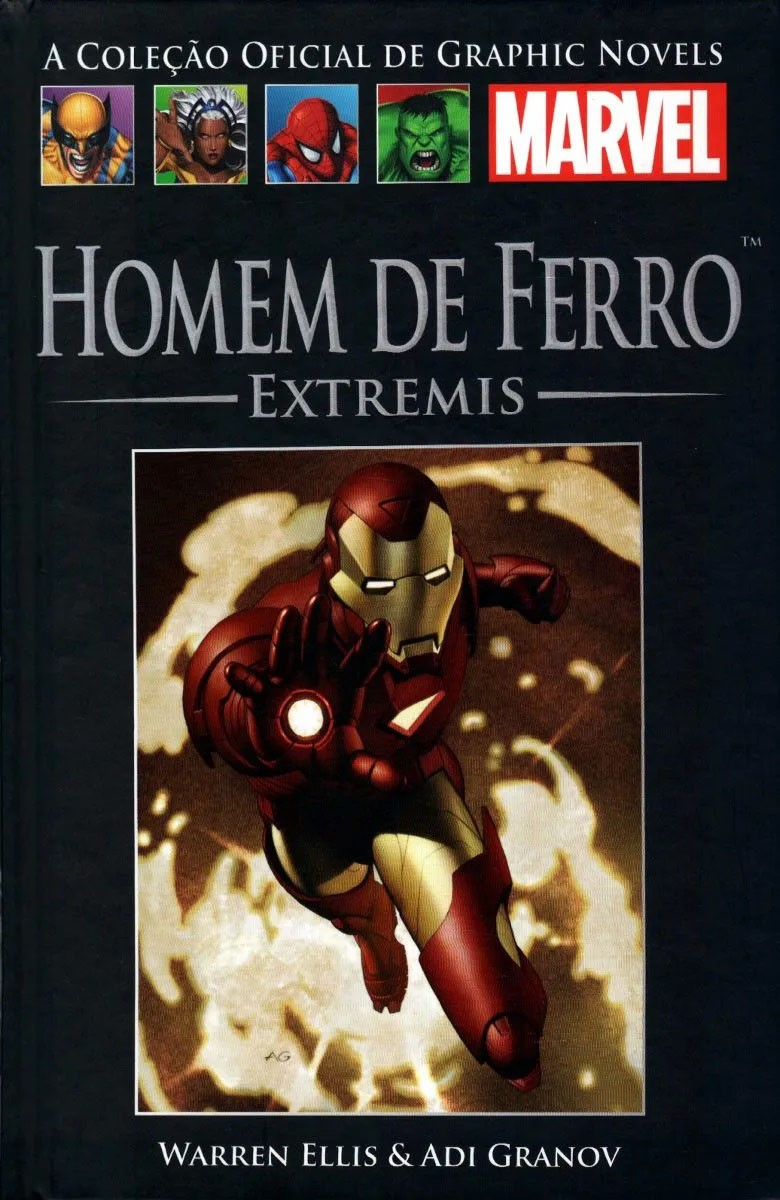 Homem de Ferro Extremis - Iron Man Salvat nº 43 HQ Marvel Capa dura  - Dragon Store