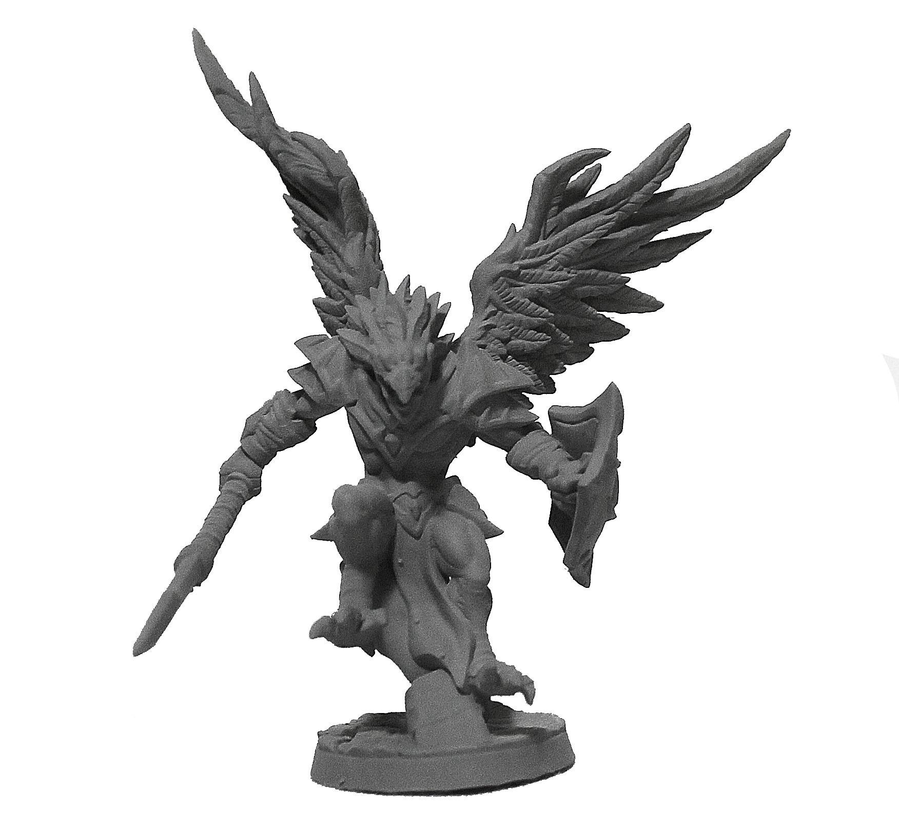 Homem Grifo Lança miniatura RPG Boargame Hobby pintura  - Dragon Store