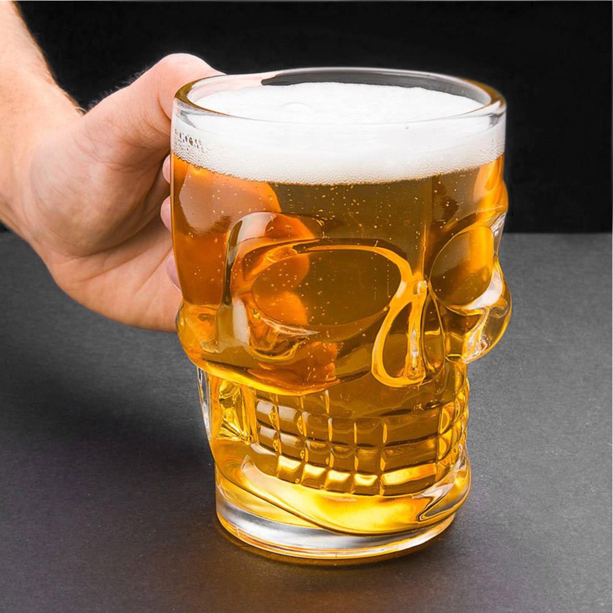 kit 2 Canecas Chopp cerveja + 6 copos de dose Caveira Viking  - Dragon Store