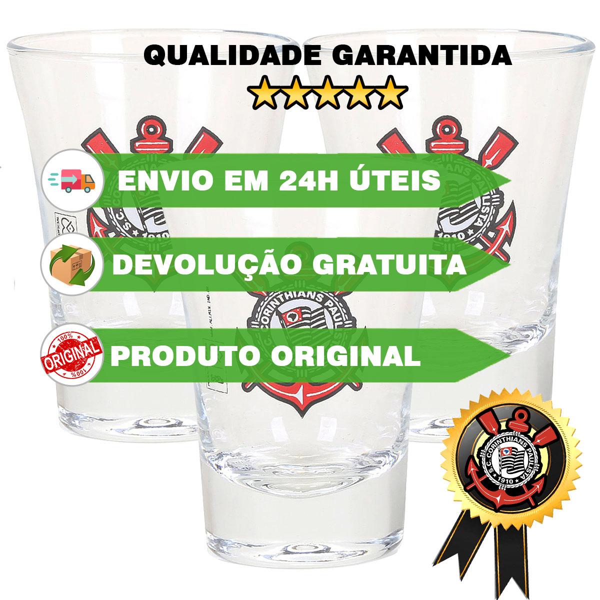 kit 3 Copos dose Corinthians OFICIAL Timão shot Cachaça  - Dragon Store