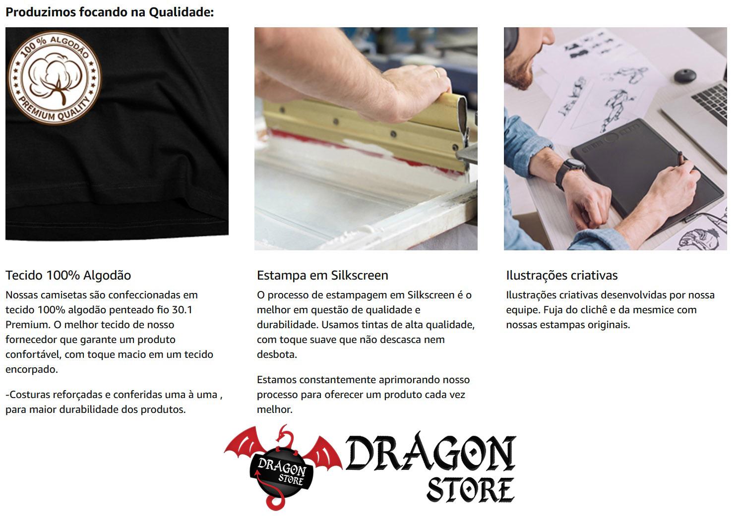 Kit 4 Camisetas motociclistas moto motoqueiro  - Dragon Store