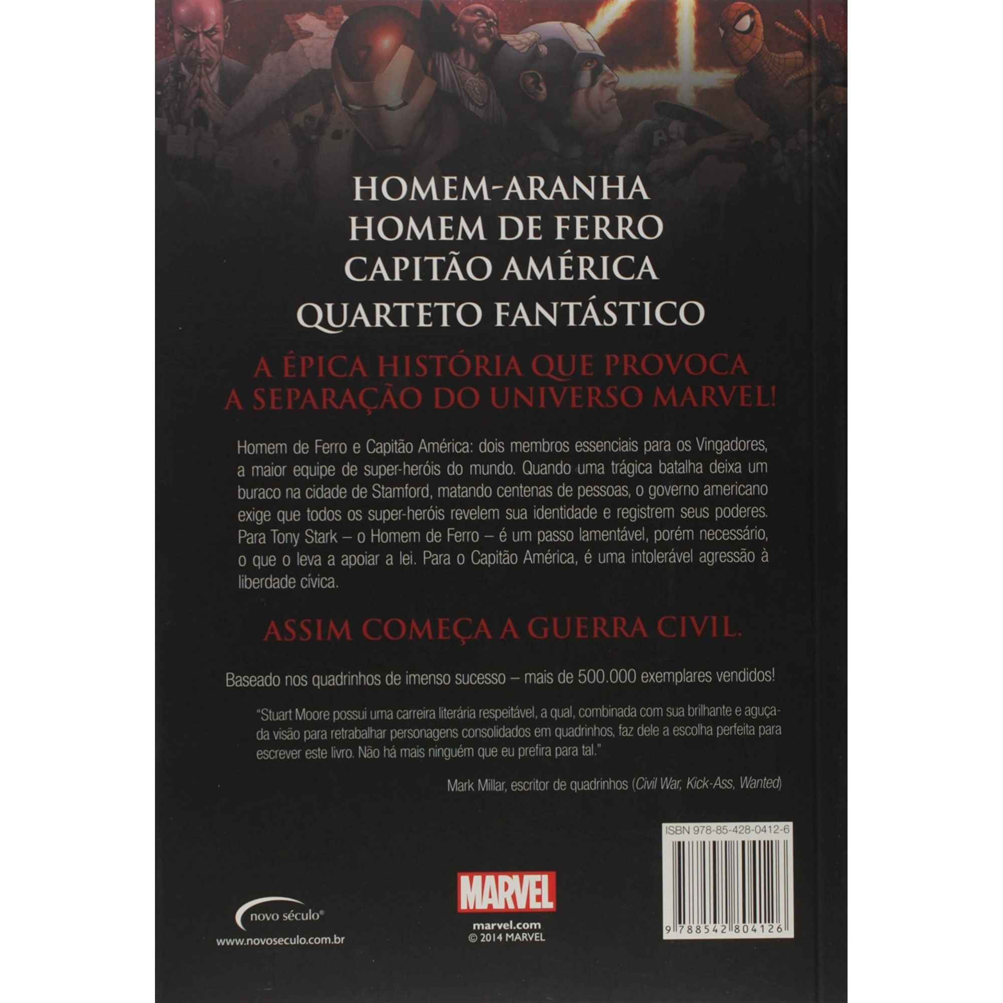 Romance adaptado: Guerra Civil Marvel  - Dragon Store